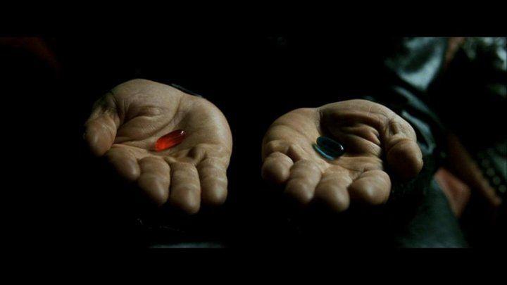 modrá pilulka
