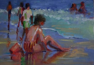 oil_painting_of_woman_in_red_stripped_swimsuit_by__653112ae9b10314de236d00cd7480350