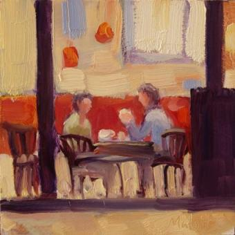 coffee-and-conversation-daily-painting-oil