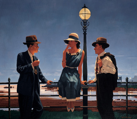 flirting,jackvettriano,painting,smoking,vintage-edccb07f782f35fe8172846099ce834c_h